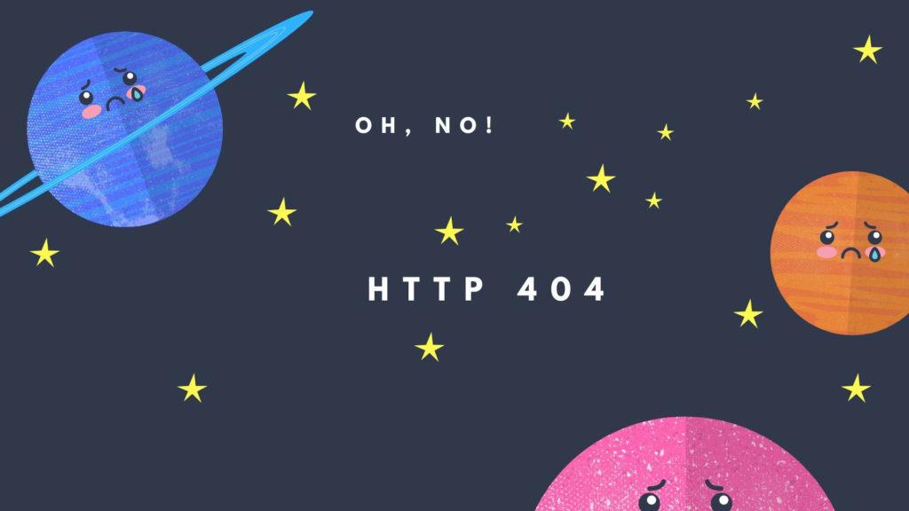 error 404 revelando ideas